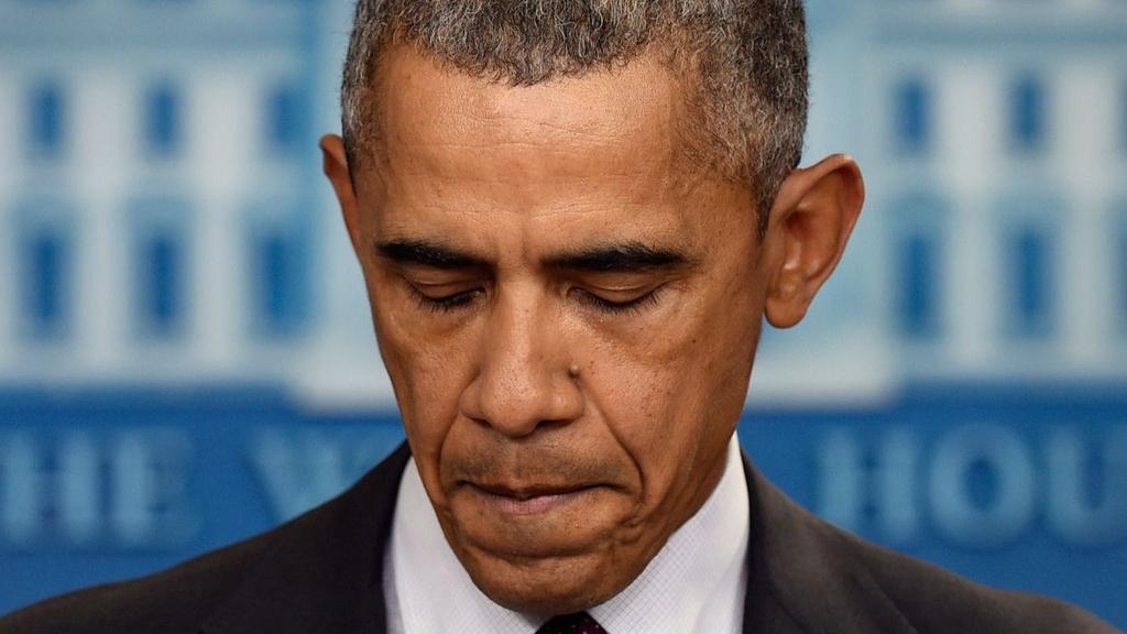 Giot nuoc mat bat luc cua ong Obama sau cac vu xa sung o My hinh anh 1