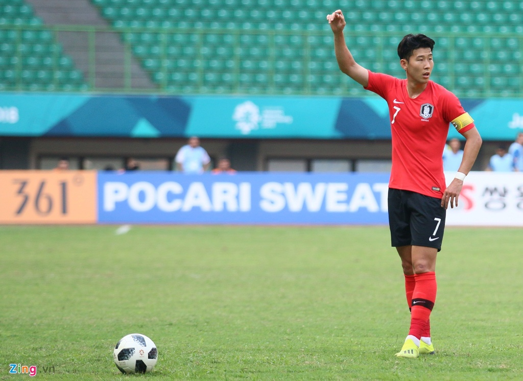 Son Heung-min phan ung voi tinh than thi dau cua Olympic Han Quoc hinh anh 1