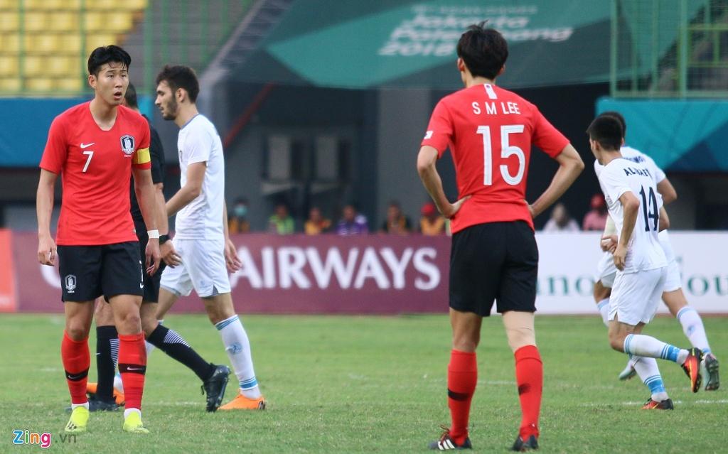 Son Heung-min phan ung voi tinh than thi dau cua Olympic Han Quoc hinh anh 10