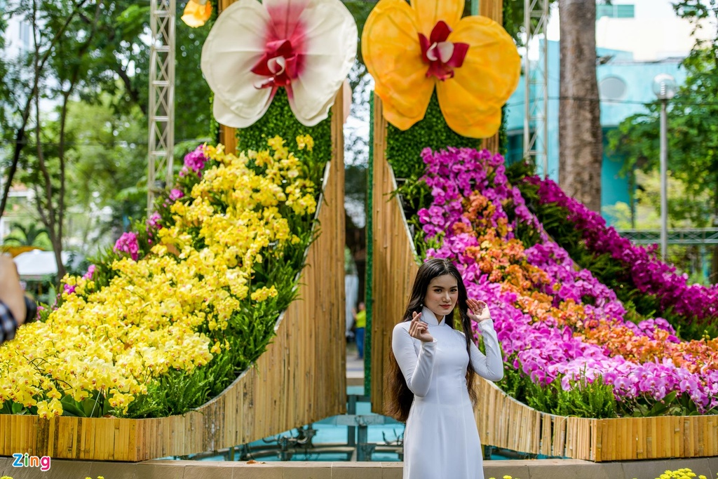 Nguoi Sai Gon do xo di ngam hoa lan khi tiet troi diu mat hinh anh 6