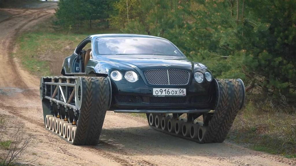 Bien Bentley Continental GT thanh 'xe tang' hinh anh 2