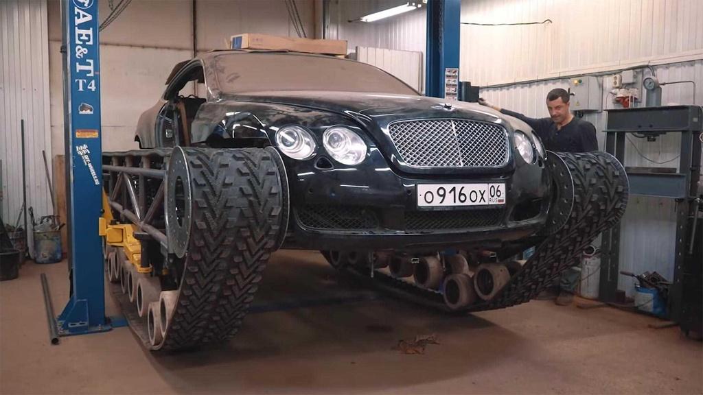 Bien Bentley Continental GT thanh 'xe tang' hinh anh 4