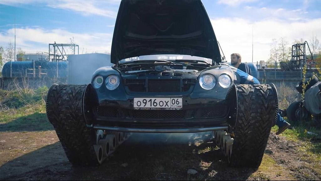 Bien Bentley Continental GT thanh 'xe tang' hinh anh 5