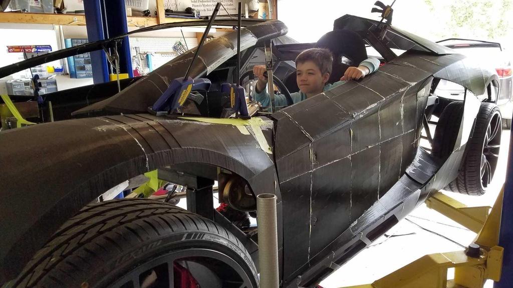 Tu san xuat sieu xe Lamborghini Aventador bang may in 3D hinh anh 3