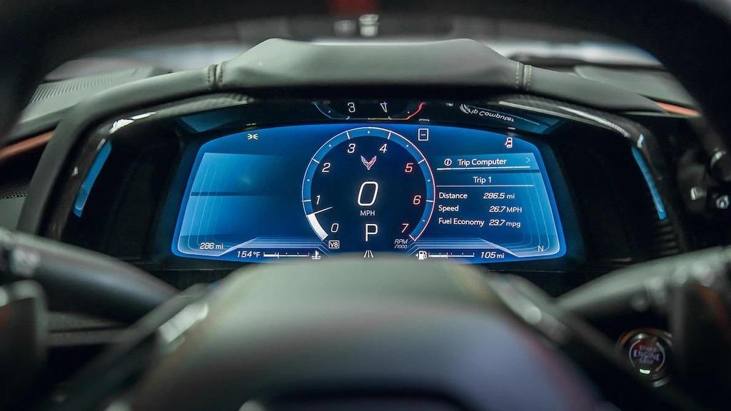 danh gia noi that sieu xe Chevrolet Corvette C8 2020 anh 8