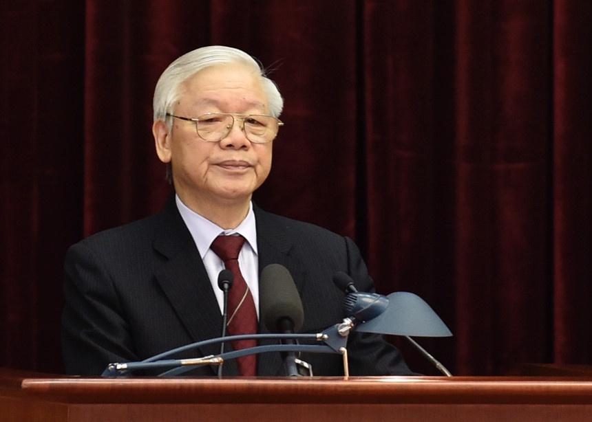 Hoi nghi lan thu chin Ban Chap hanh Trung uong Dang khoa XII anh 1