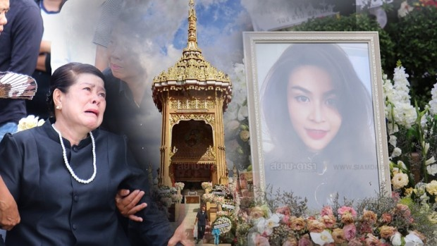 Gia dinh, ban be khoc ngat trong le hoa tang A hau Thai Lan hinh anh 1