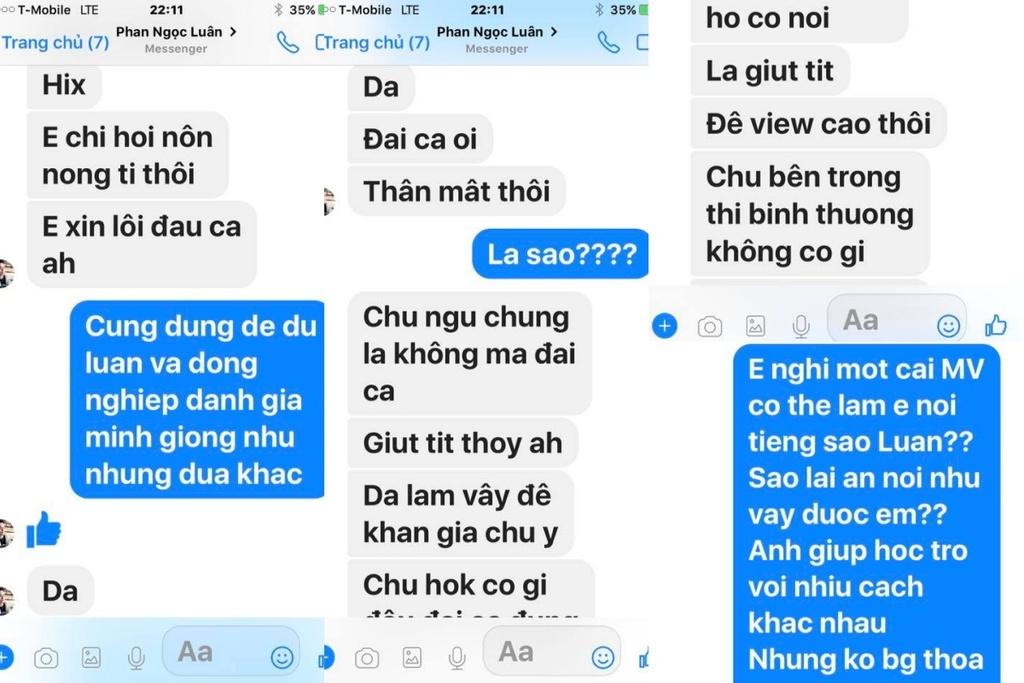 Đàm Vĩnh Hưng công khai tin nhắn Phan Ngọc Luân thừa nhận dựng chuyện ngủ chung giường để PR bản thân - Ảnh 2