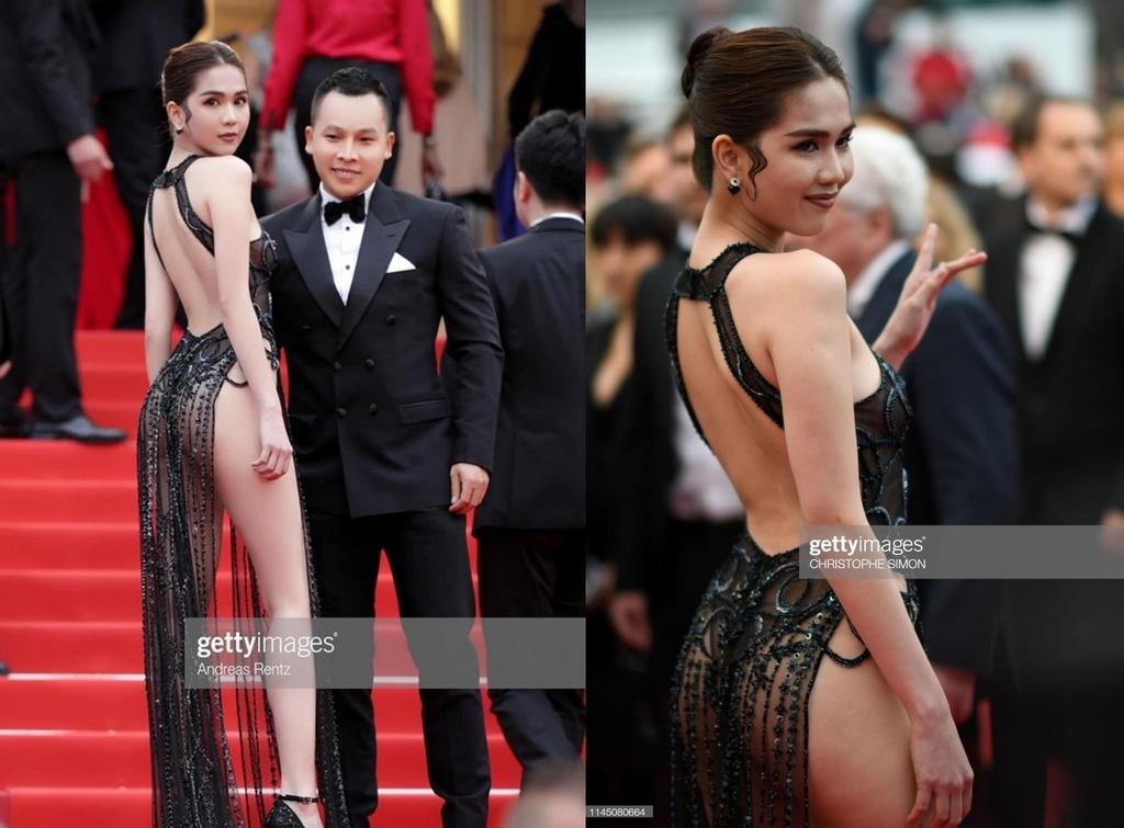 Ngoc Trinh mac ho bao o Cannes anh 3