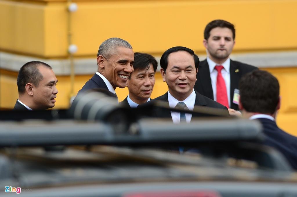 Chu tich nuoc tiep don trang trong Tong thong Obama hinh anh 3