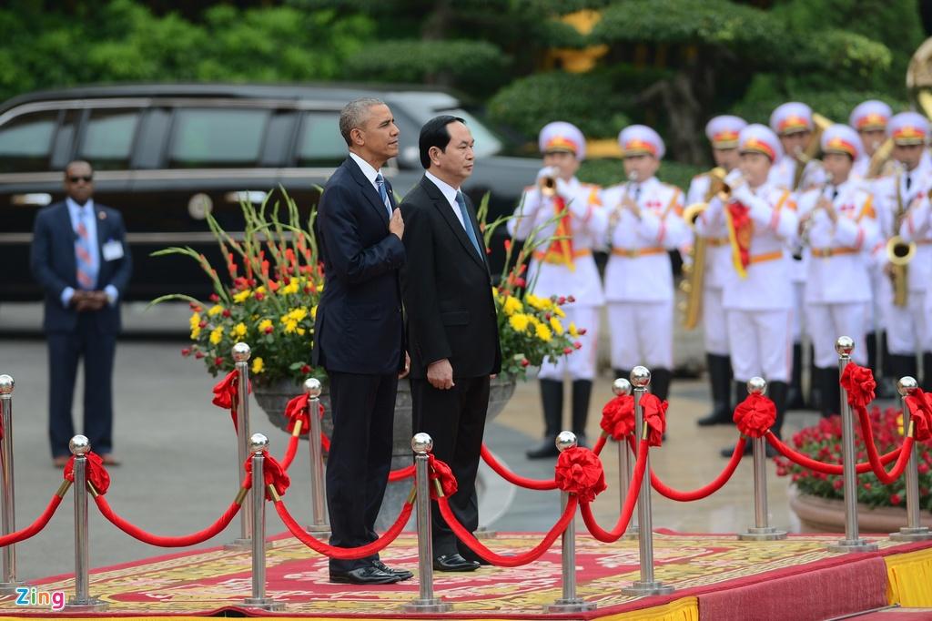 Chu tich nuoc tiep don trang trong Tong thong Obama hinh anh 4