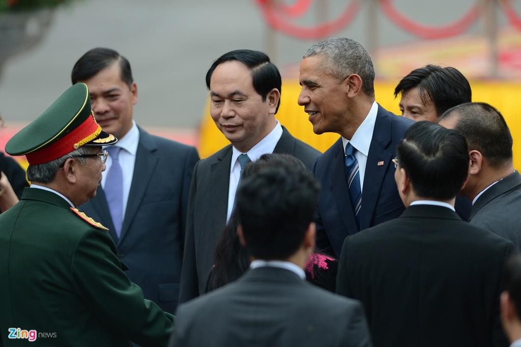 Chu tich nuoc tiep don trang trong Tong thong Obama hinh anh 6