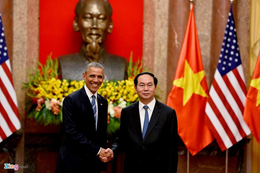 Chu tich nuoc tiep don trang trong Tong thong Obama hinh anh 7