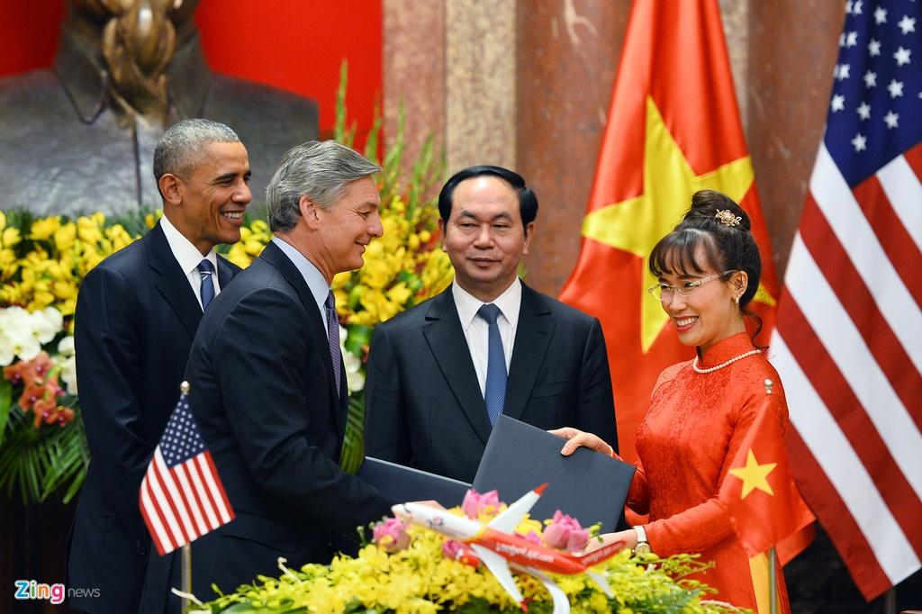 Chu tich nuoc tiep don trang trong Tong thong Obama hinh anh 9