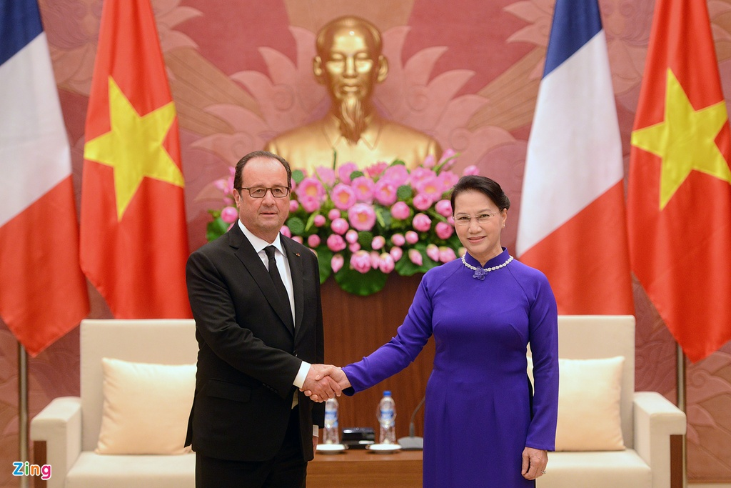 Tong thong Phap Francois Hollande tham Viet Nam anh 14