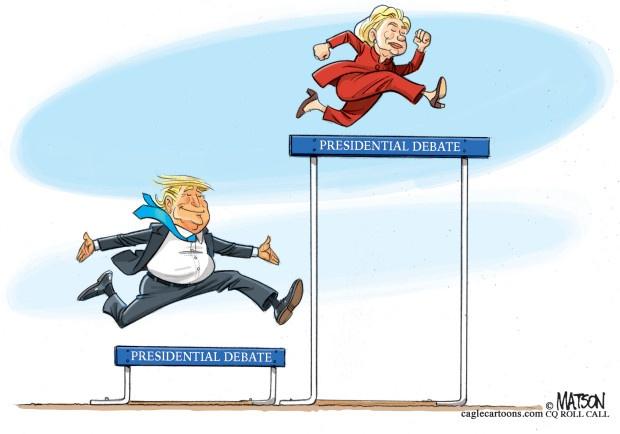 Man doi dau giua Trump va Clinton qua tranh biem hoa hinh anh 4