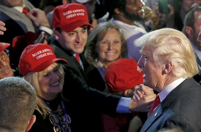 Trump xuat hien lan dau tien sau chien thang hinh anh 8