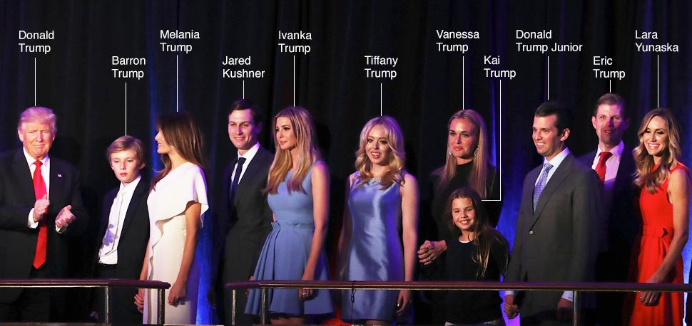 Dan trai xinh gai dep nha Trump voi 5 con, 8 chau hinh anh 1