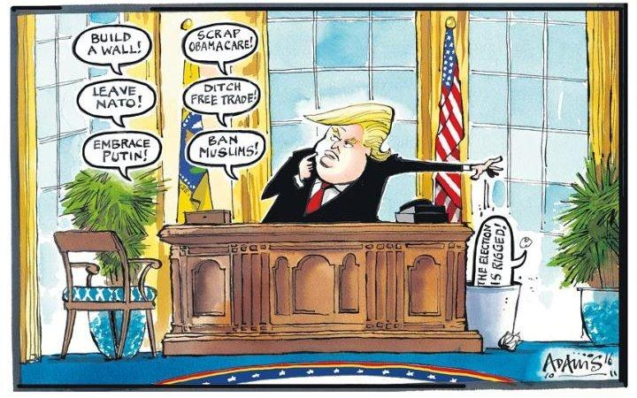 tranh biem hoa ve tong thong Donald Trump anh 2