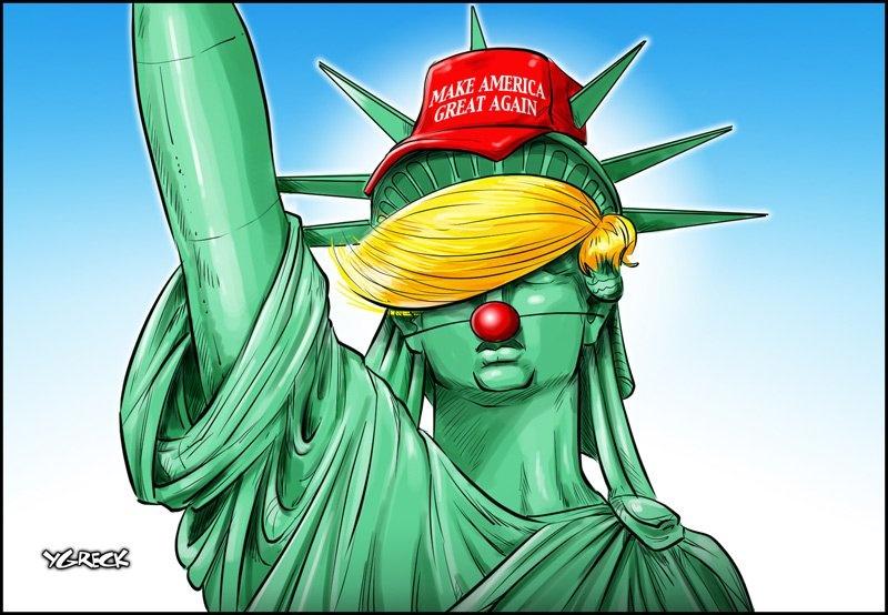 tranh biem hoa ve tong thong Donald Trump anh 5