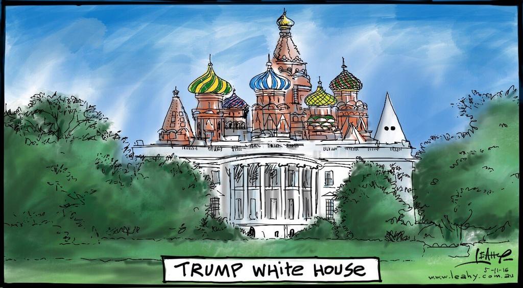 tranh biem hoa ve tong thong Donald Trump anh 10