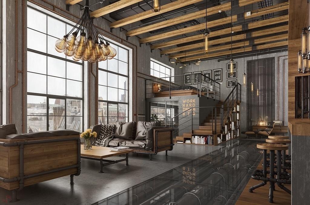 phong cách Industrial trong thiết kế nội thất