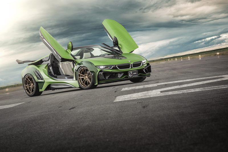 BMW I8 Roadster lot xac voi dan ao xanh nham hinh anh 8
