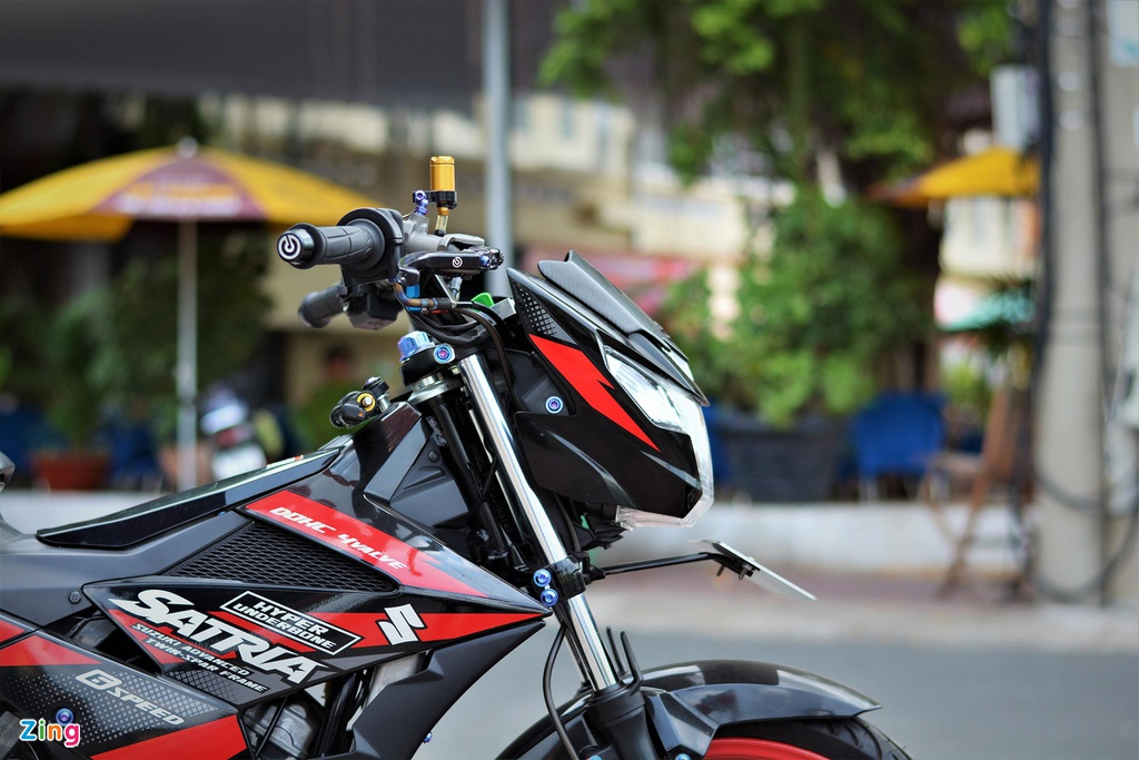 Suzuki Raider do do choi hang hieu ton 100 trieu cua biker mien Tay hinh anh 2