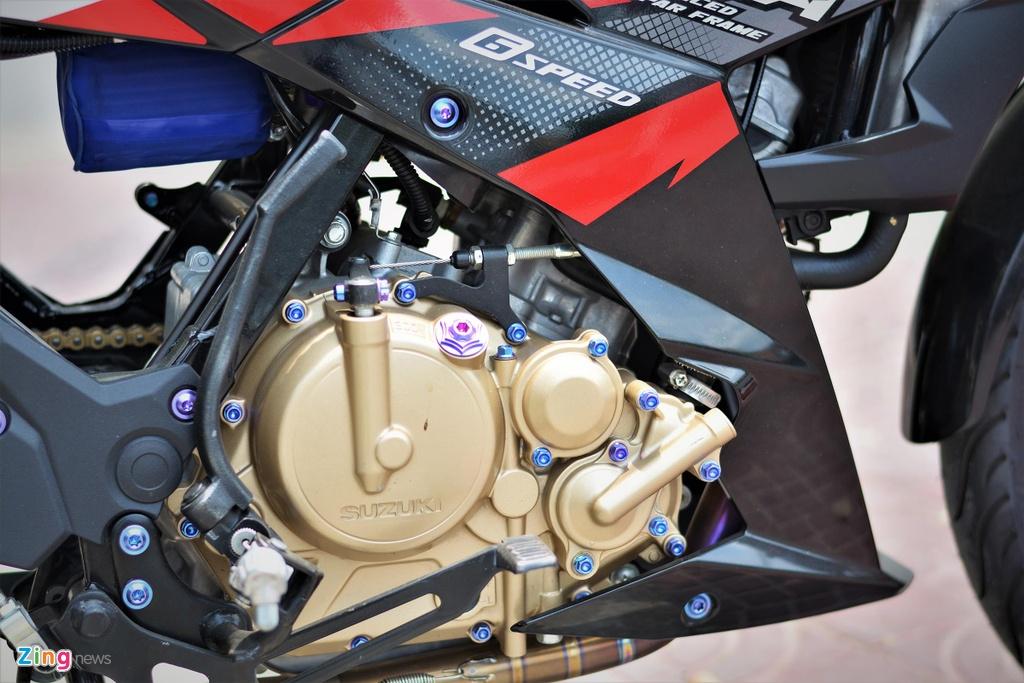 Suzuki Raider do do choi hang hieu ton 100 trieu cua biker mien Tay hinh anh 7