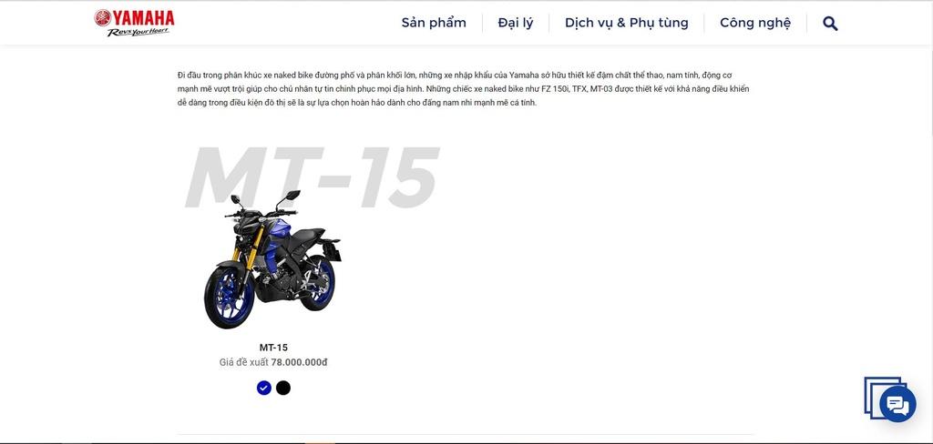 Yamaha Viet Nam mo ban MT-15 anh 2