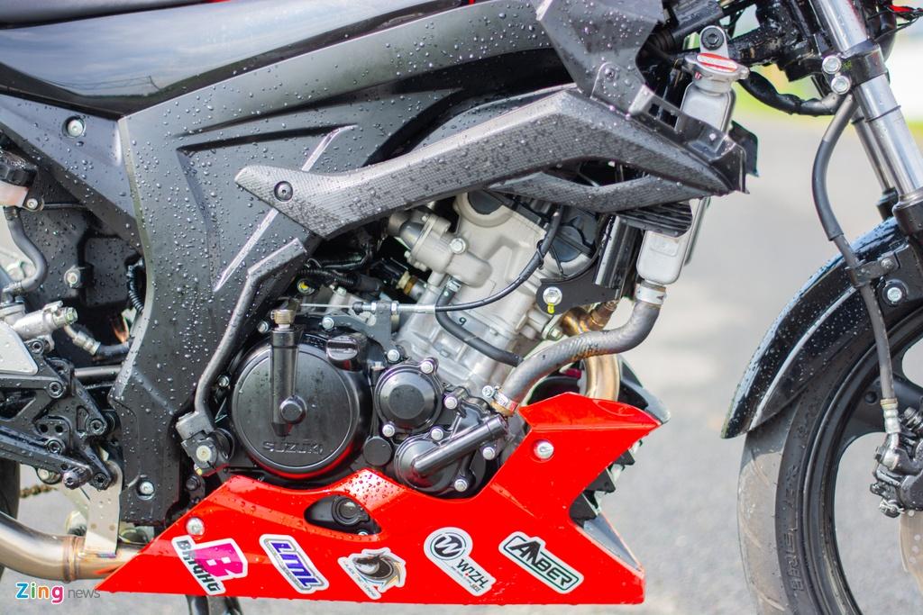 Chiem nguong Suzuki GSX-S150 phien ban xe dua - doc nhat vo nhi tai VN hinh anh 8