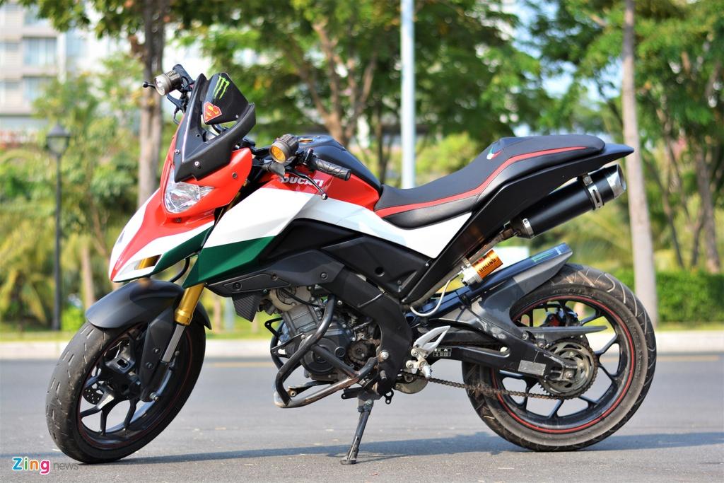 Yamaha TFX bien hoa thanh Ducati Hypermotard doc nhat VN anh 12