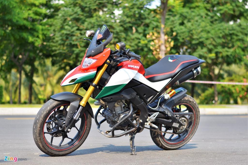 Yamaha TFX bien hoa thanh Ducati Hypermotard doc nhat VN anh 1