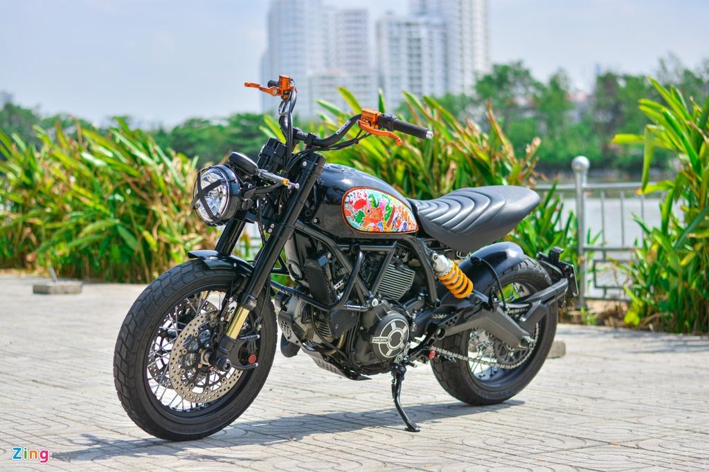 Ducati Scrambler lot xac voi goi do 200 trieu cua biker Ha Noi hinh anh 1 16_Scramblerdo_zing.jpg