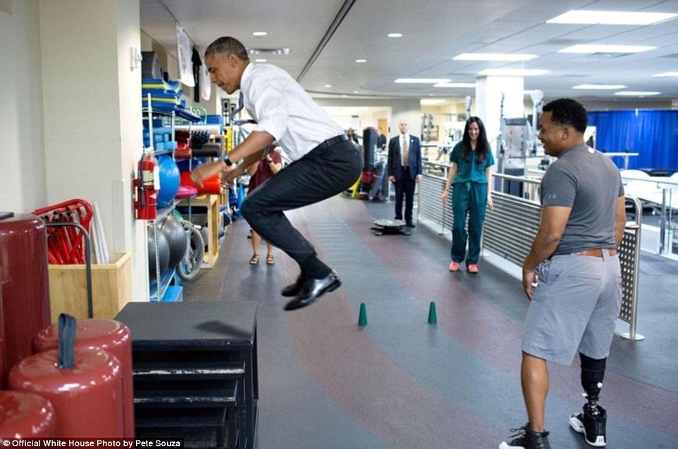 Nhung buc anh thu vi ve Obama nam 2016 anh 12