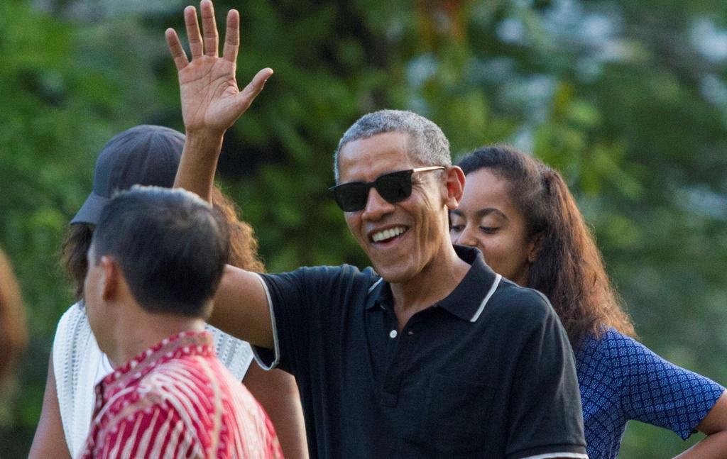 Obama va chuyen ve 'que' voi hang tram binh si bao ve hinh anh 9