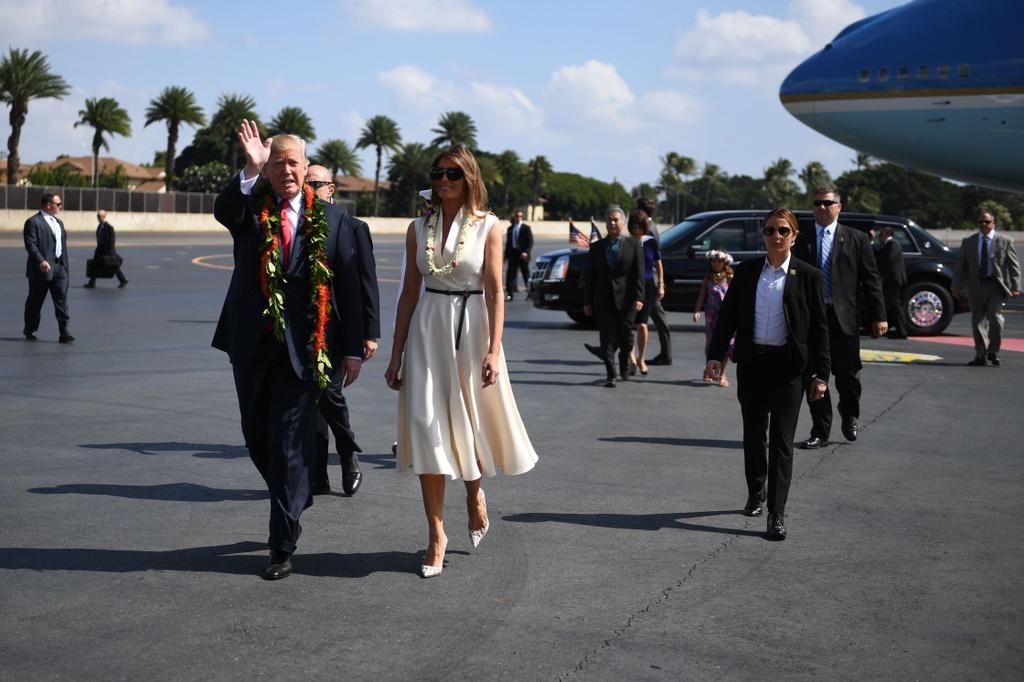 Tong thong Trump toi Hawaii, tham Bo Tu lenh Thai Binh Duong hinh anh 7