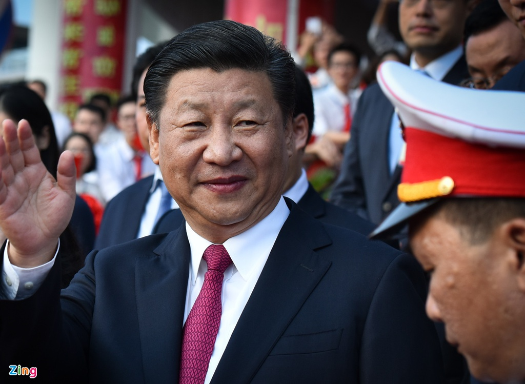 Chu tich Tap Can Binh du le khanh thanh Cung huu nghi Viet - Trung hinh anh 1