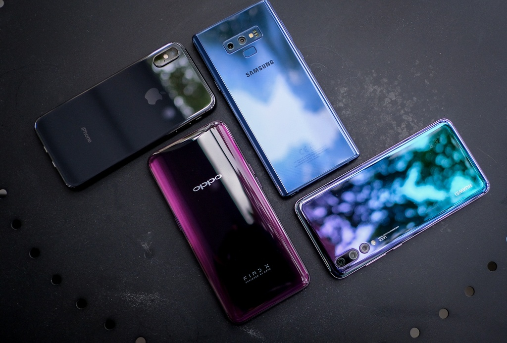 Nen chon Oppo Find X, Huawei P20 Pro, iPhone X hay Galaxy Note9 ? hinh anh 1