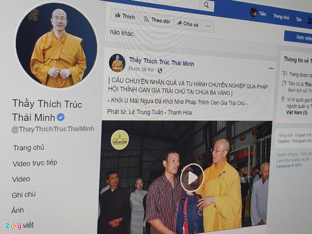 facebook chua ba vang anh 1