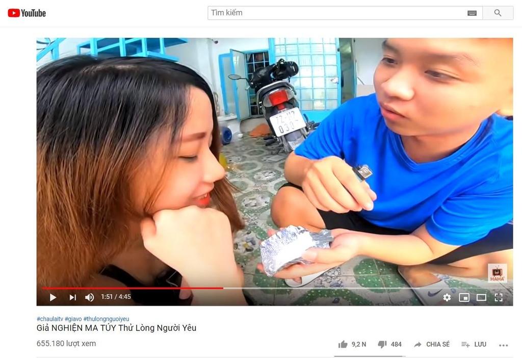 YouTube Viet tran ngap video su dung ma tuy hinh anh 3