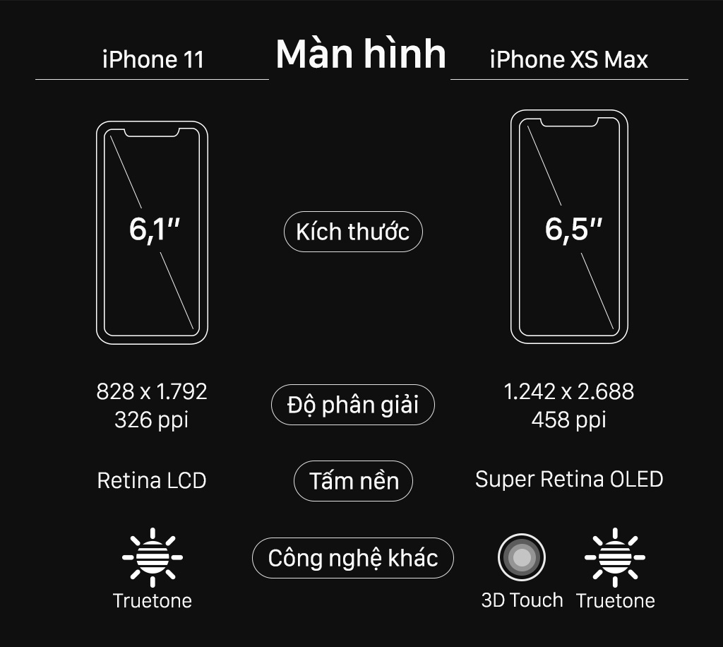 iPhone 11 do thong so voi iPhone XS Max hinh anh 2