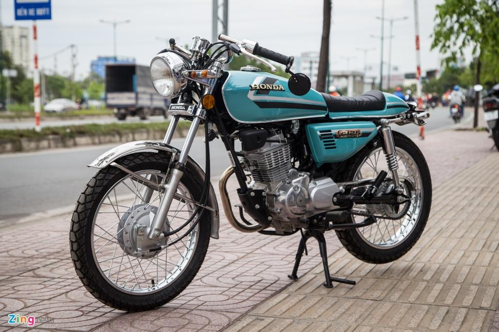 Honda CG125 Cafe racer anh 2