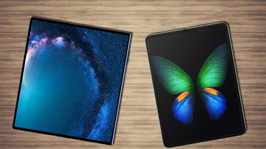 Galaxy Fold doi dau Huawei Mate X - dai chien man hinh gap hinh anh 3