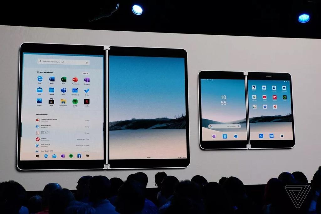 Chi tiet Surface Duo - di dong man gap, dep gon nhu cuon so hinh anh 1