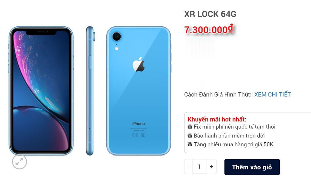 iPhone XR giam gia anh 1