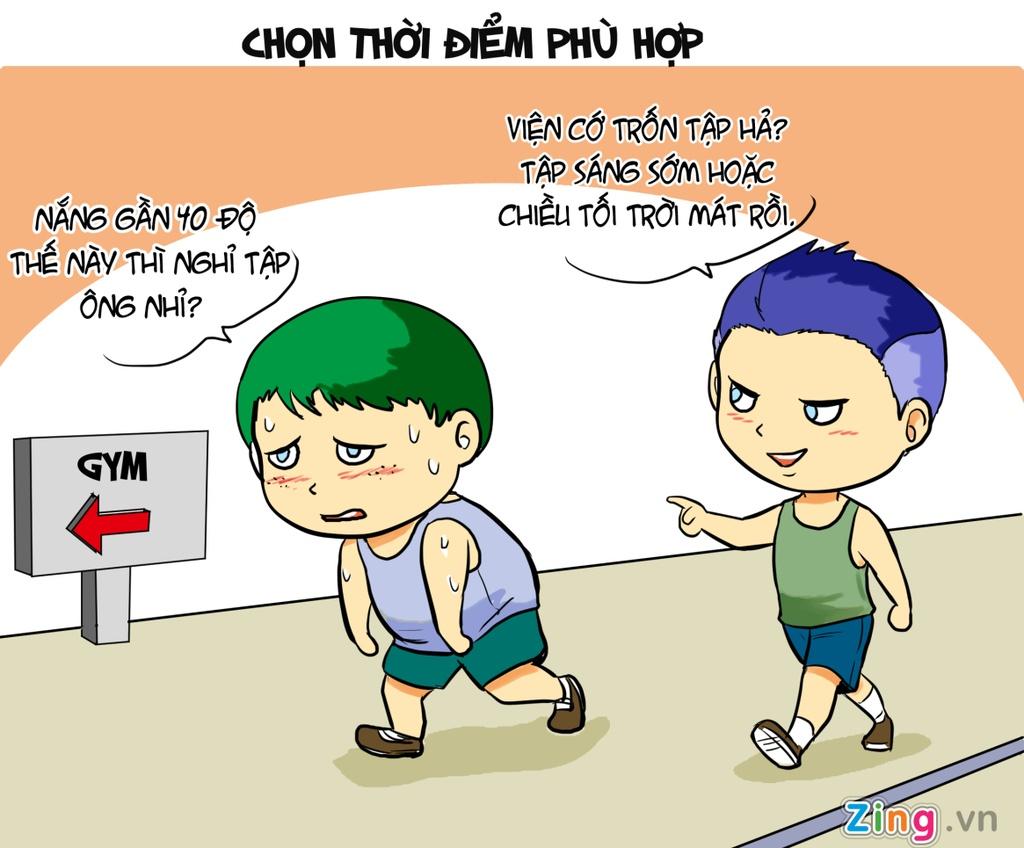 Hi hoa: Tap the duc the nao khi nang nong? hinh anh 1