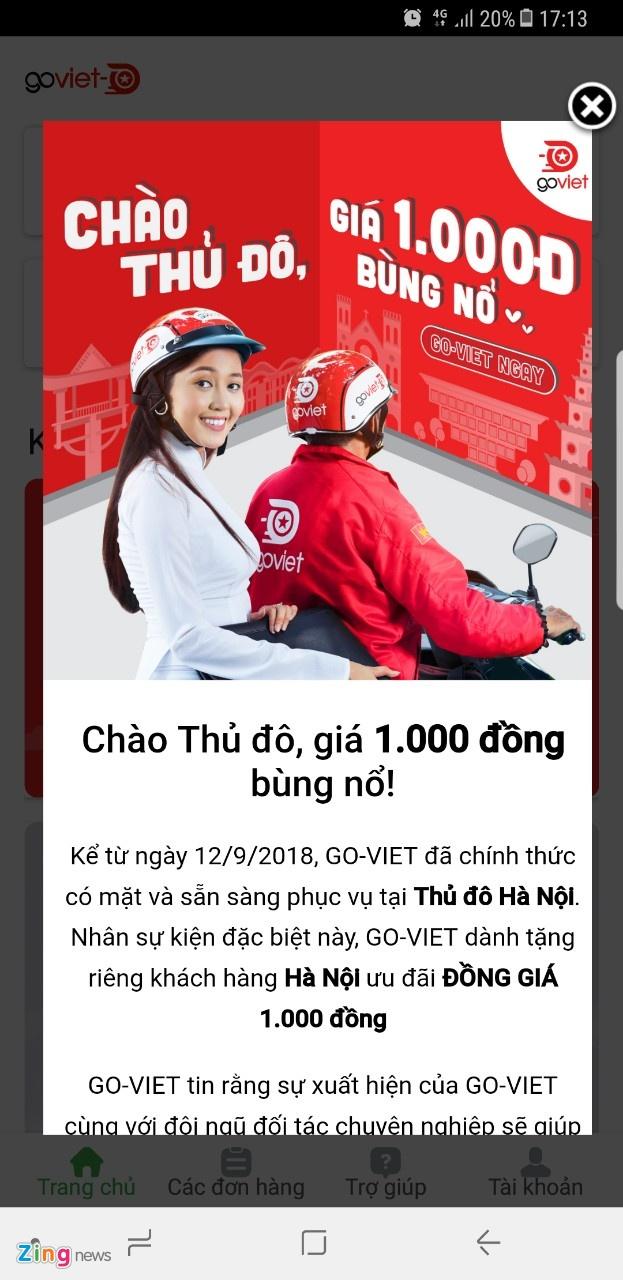 Sau TP.HCM, Ha Noi tro thanh chien truong moi cua Go-Viet va Grab hinh anh 1