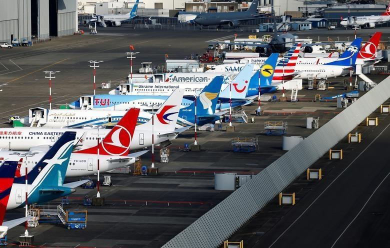Dan may bay 737 MAX tai nha may Boeing nhin tu tren khong hinh anh 2