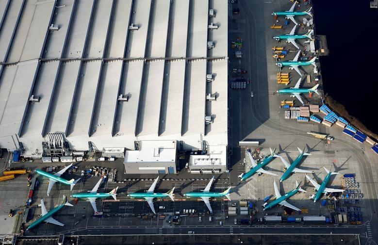 Dan may bay 737 MAX tai nha may Boeing nhin tu tren khong hinh anh 7